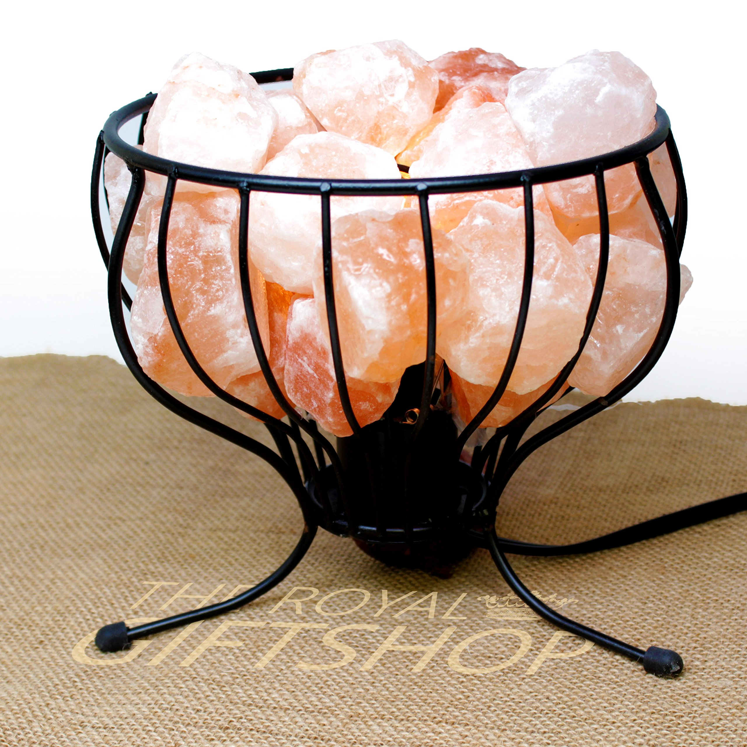 Clearance Sale: Himalayan Salt Lamp - Iron Basket with UL- approved Dimmer Switch and 15-Watt Light Bulb