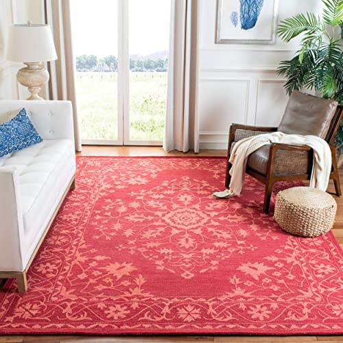 Safavieh Dip Dye Collection DDY702Q Handmade Wool Area Rug, 7 x 7 Square, Red