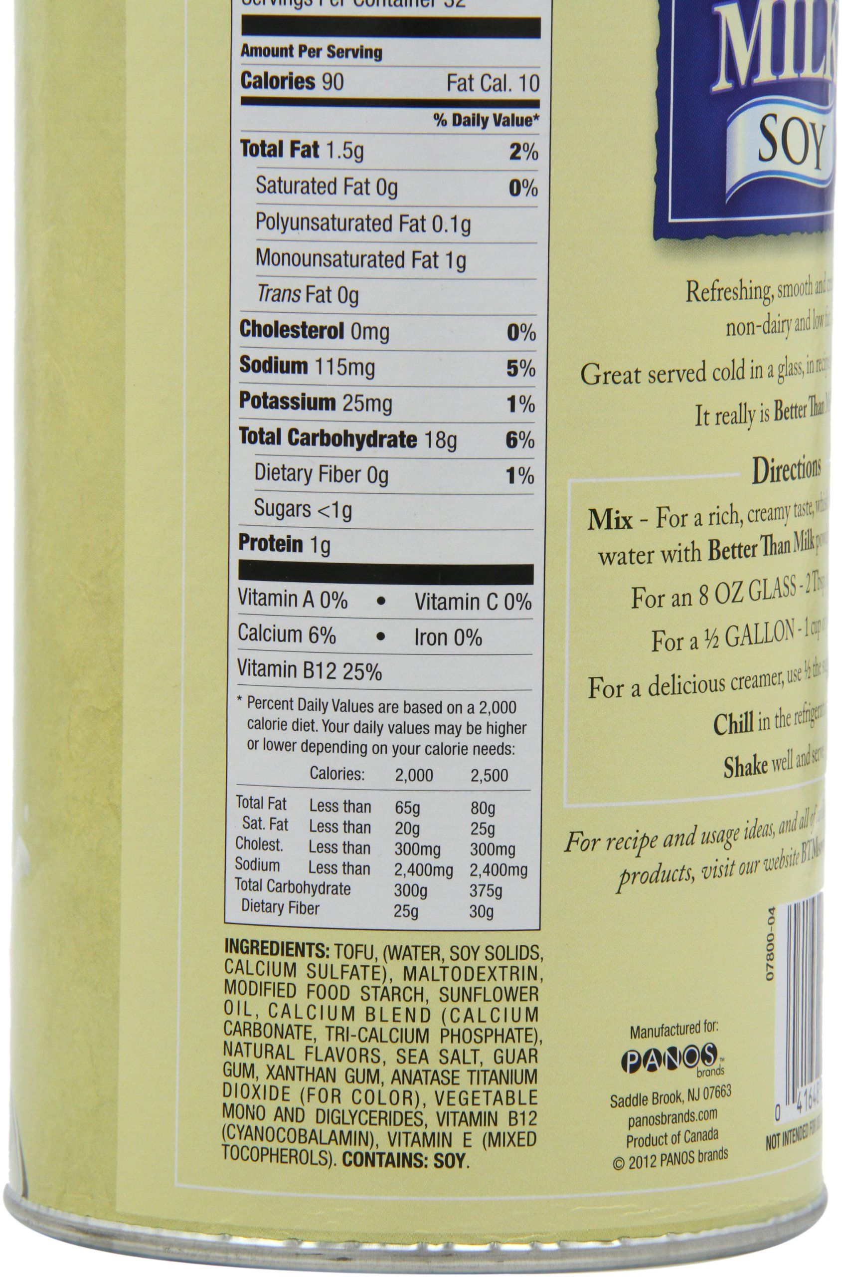 Better Than Milk Vegan Soy Powder, 25.9-Ounce Canisters (Pack of 2) by Better Than Milk (Image #8)