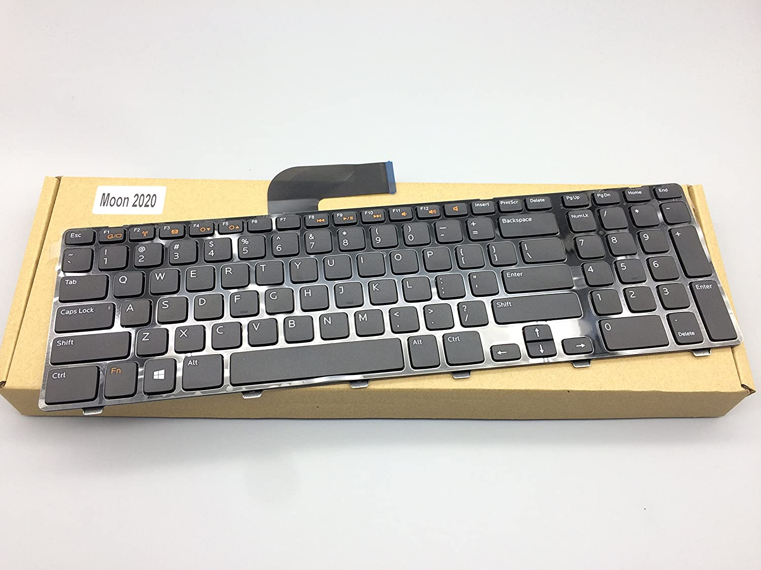 Replacement Keyboard for Dell Inspiron 17R N7110 5720 7720 / Vostro 3750 / XPS 17 L702X Laptop No Backlight DP/N: 0454RX 08XN0P 09GTY3