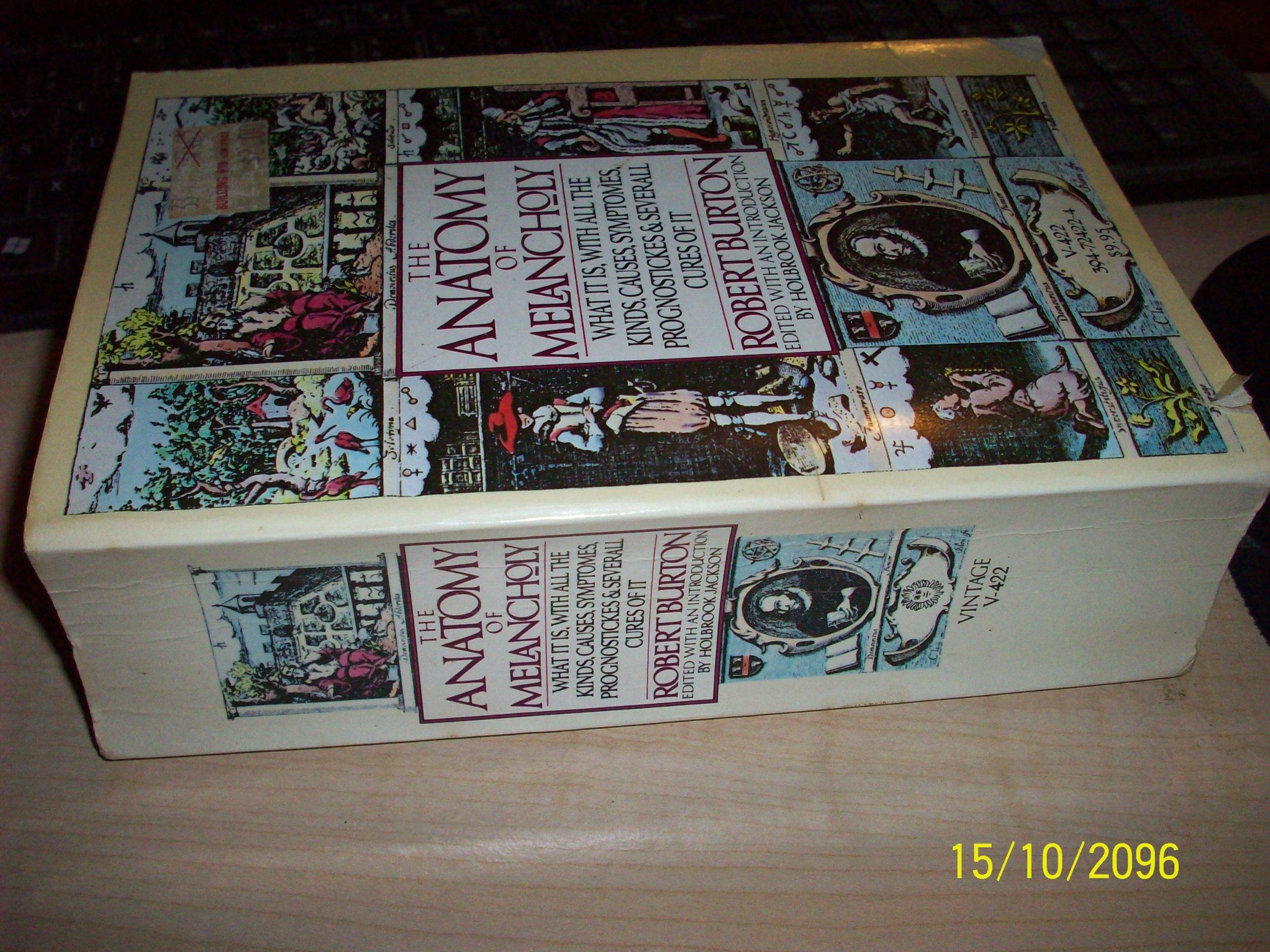 V422 ANATOMY MELANCHOLY: Robert Burton: 9780394724225: Amazon.com: Books