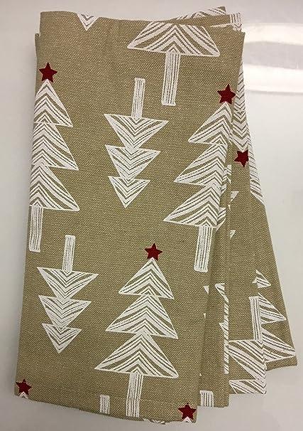 Contemporary Christmas Tree.Tinsel Fir Arctic Holiday Contemporary Christmas Tree Napkins Set Of 4 19 X 19 Beige