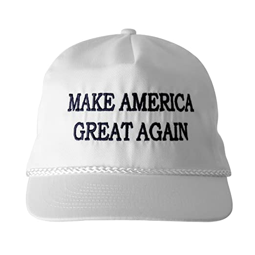 adce712f6 BRC Make America Great Again! - Trump 2016 Adjustable Cap with Rope Front