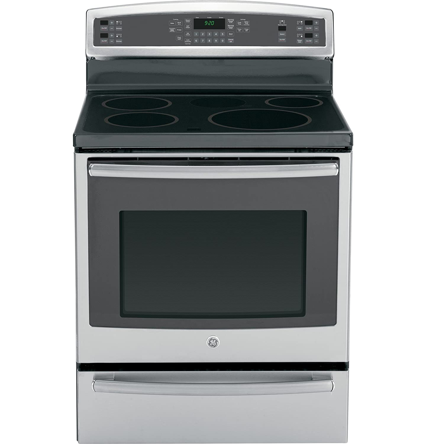 d6fba297c596 This freestanding range features touch controls that make it easy to use  and is part of GE s Profile line. With built-in self-cleaning and  convection ...
