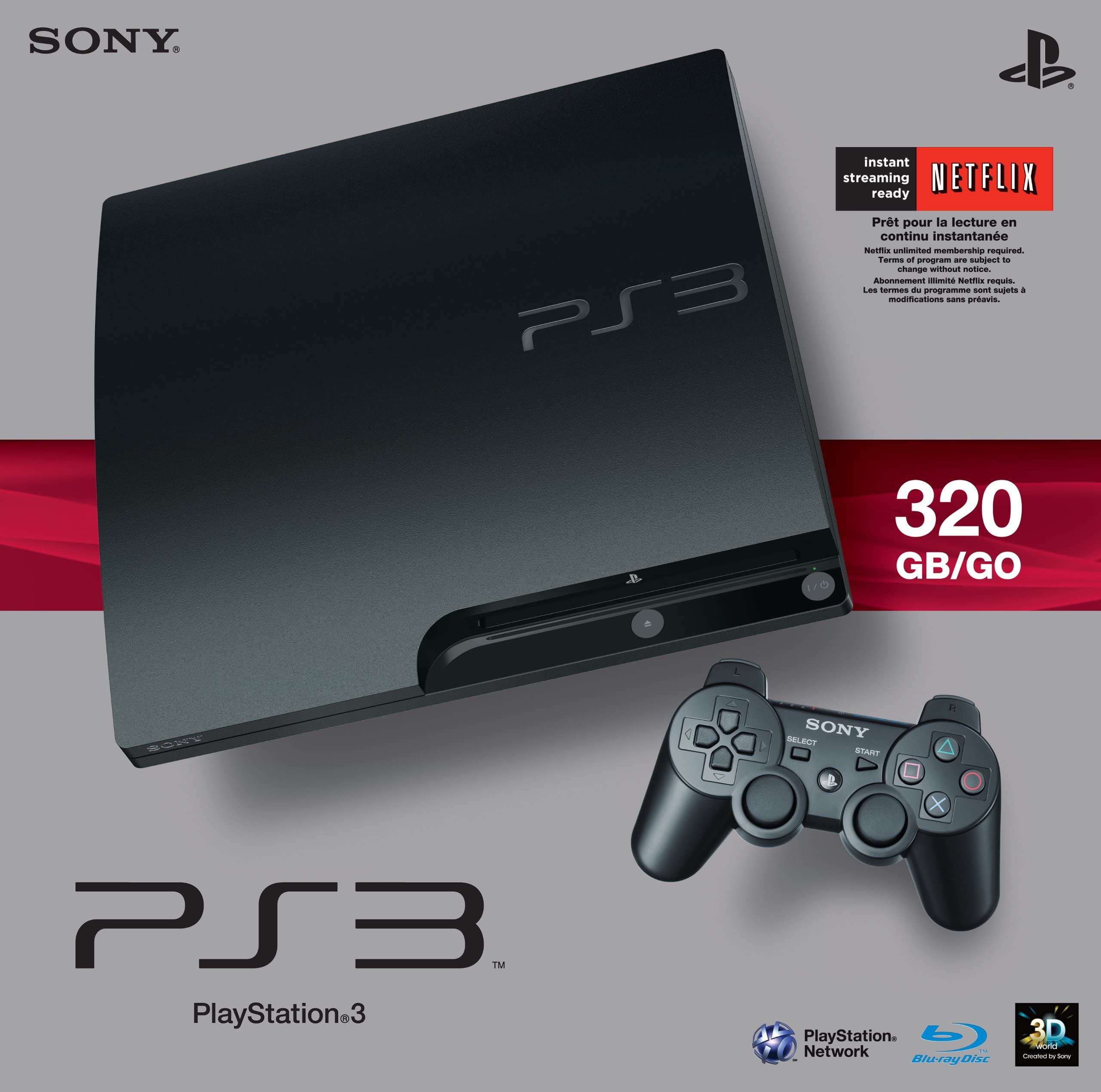 Amazon com: Sony PlayStation 3 Slim 320 GB Charcoal Black Console