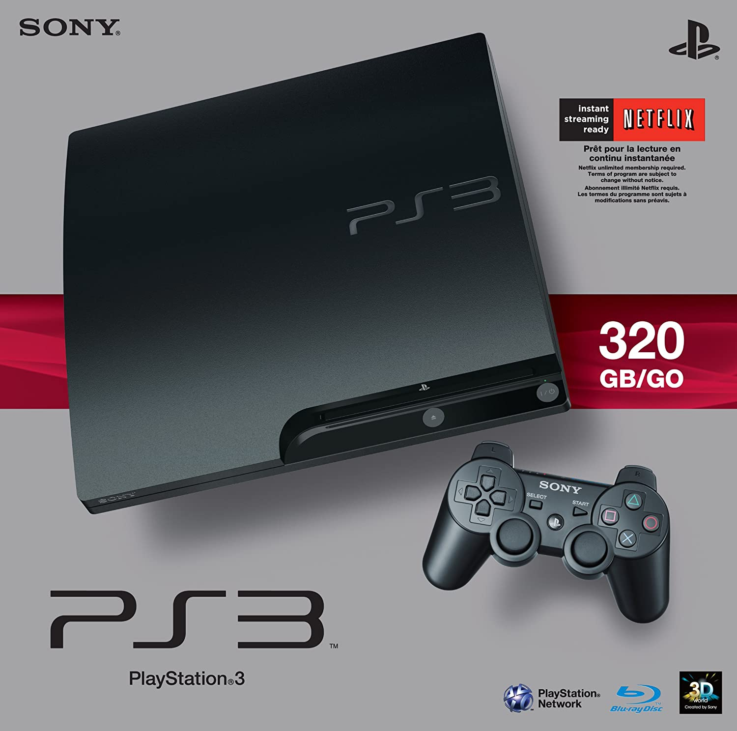 Amazon Com Sony Playstation 3 Slim 320 Gb Charcoal Black Console Video Games
