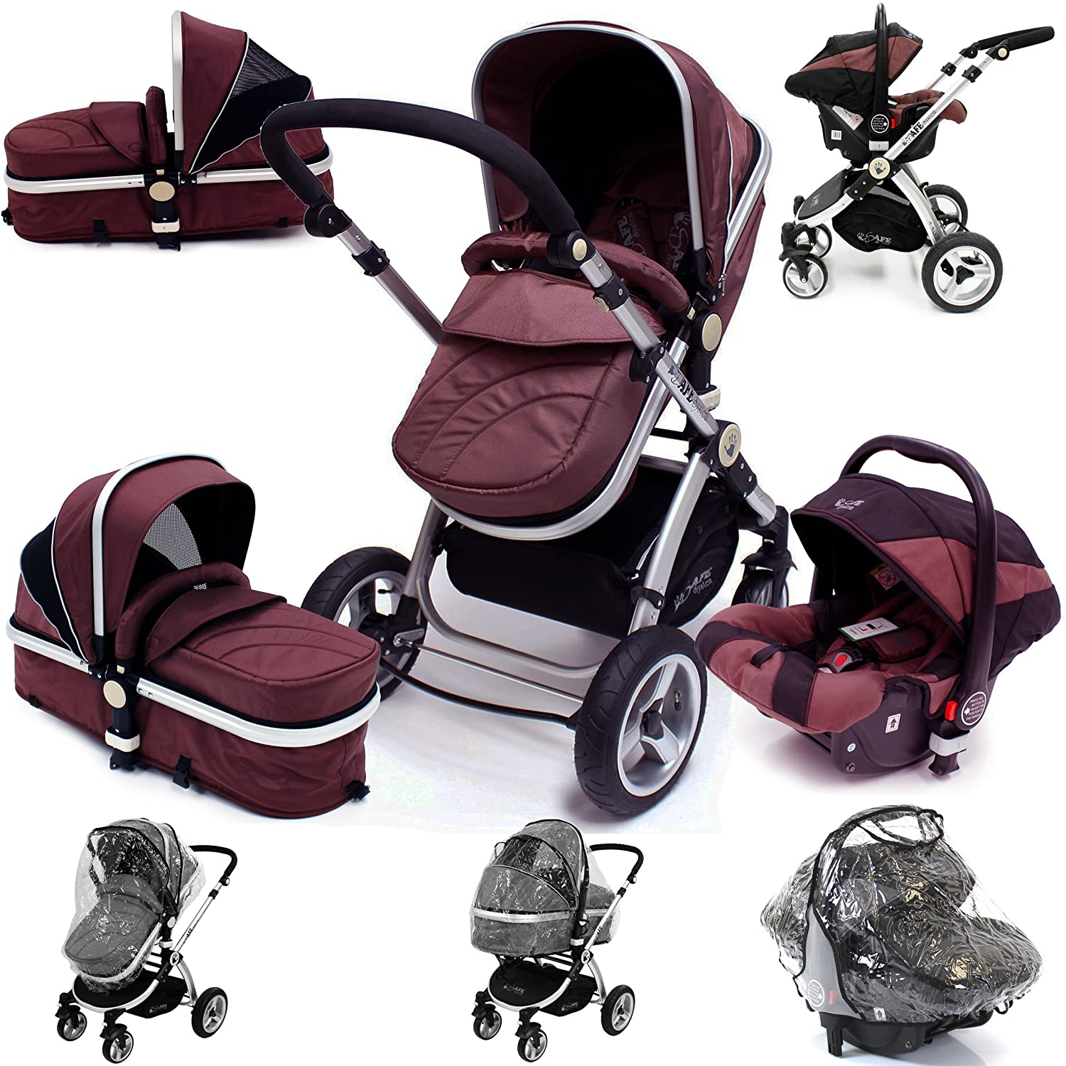 Hot Chocolate Trio Travel System Pram & Luxury Stroller 3 in 1