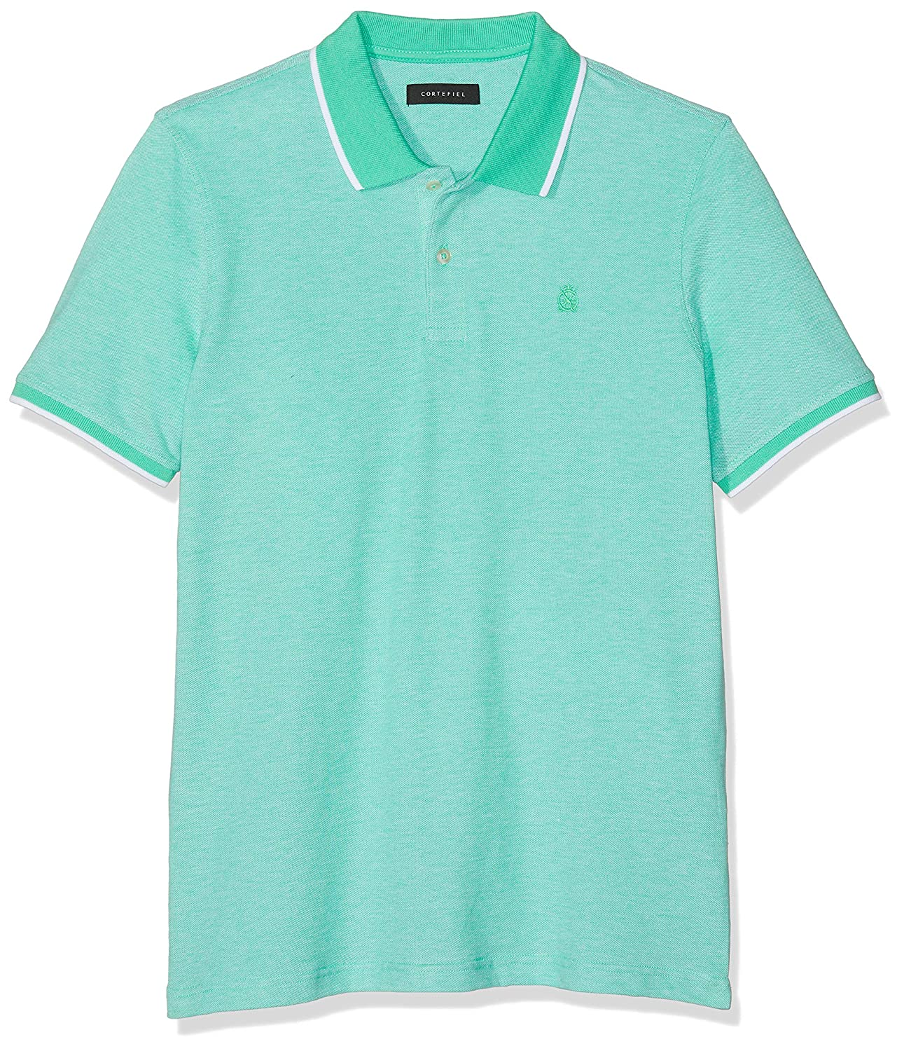Cortefiel C5Bck Polo Oxford, Verde (Verde Oscuro 20), Large ...