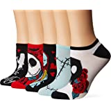 Disney Women's Nightmare Before Christmas 5 Pack No Show Socks