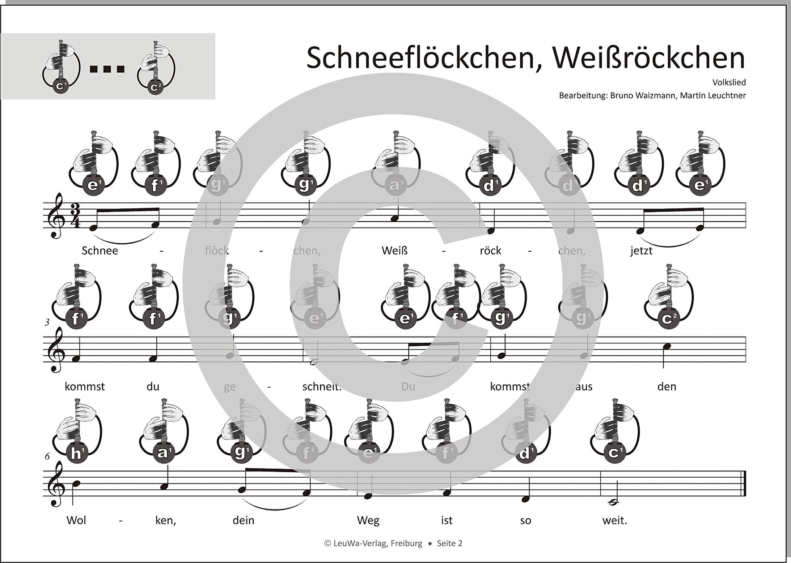 Oh Tannenbaum Flöte.Einfacher Geht Nicht 24 Weihnachtslieder Für Sopran Blockflöte