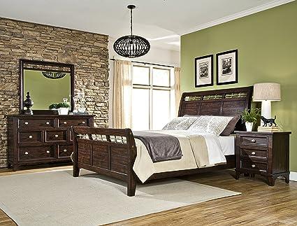 Intercon Hayden Rough Sawn U0026 Espresso Queen Bedroom Set