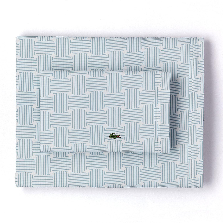 King Gray Camo Lacoste Printed Percale Pillowcase Pair
