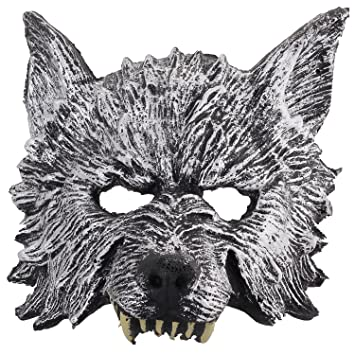 Halloween Máscara de Lobo Animal para Cosplay Disfraz de Adultos