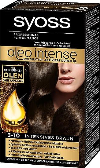 Syoss Oleo Intense Coloration 3 10 Intensives Braun 3er Pack 3 X 115 Ml