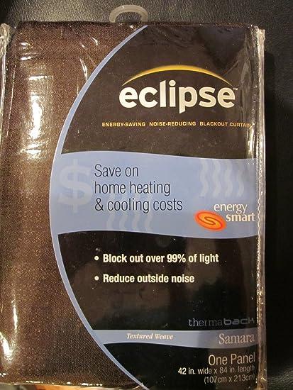 Eclipse Samara Blackout Energy Efficient Curtain Size 42x84 Color Espresso By