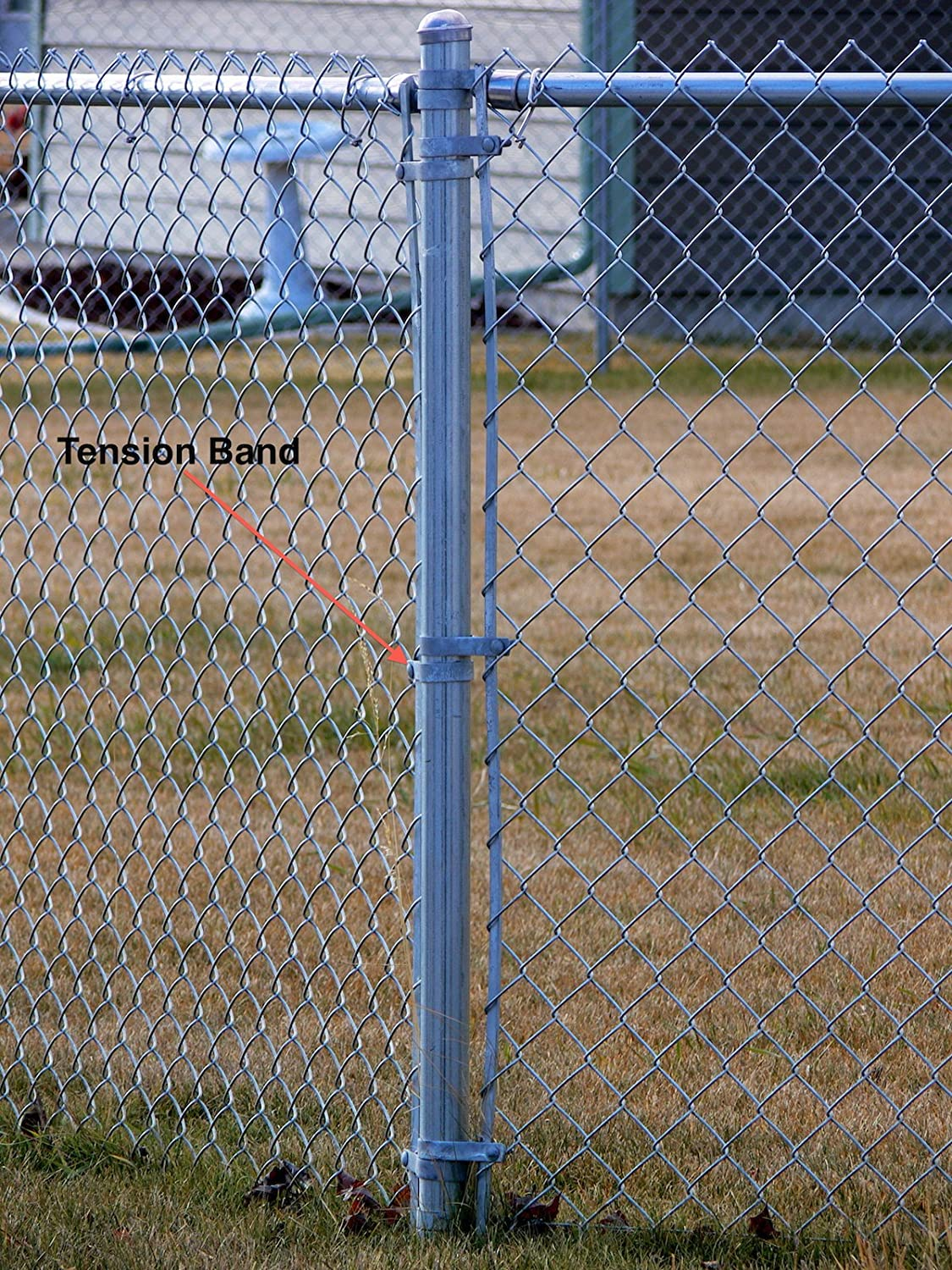 Chain Link Fence BLACK TENSION BAND 1-5/8\