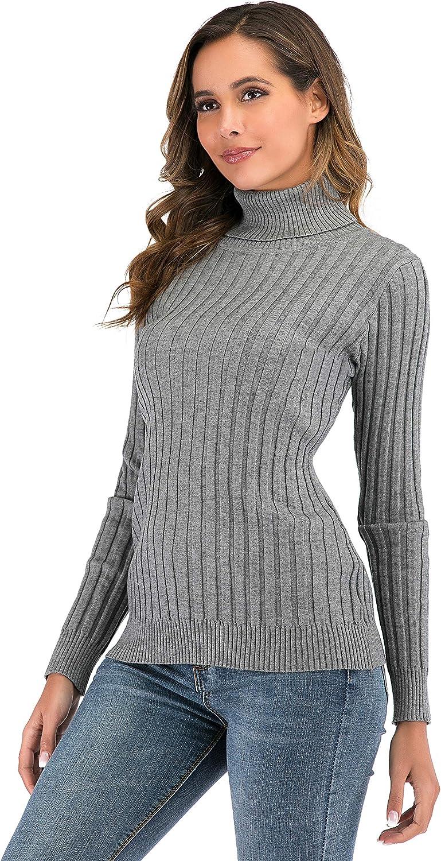Enjoyoself Maglione Donna Collo Alto Pullover Accollato Maniche Lunghe Dolcevita Invernale Regalo Natale