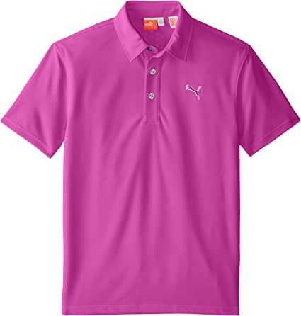Puma Golf Boys Junior Tech Polo, Vivid Viola, X-Small: Amazon.es ...