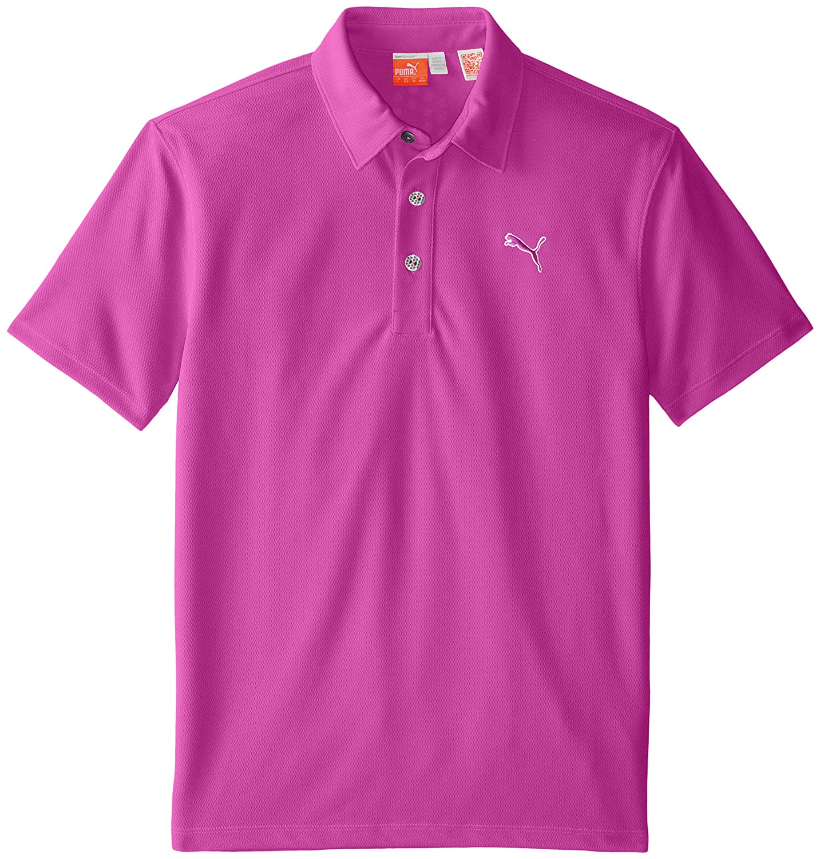 Amazon Puma Golf Boys Junior Tech Polo Vivid Viola X Small