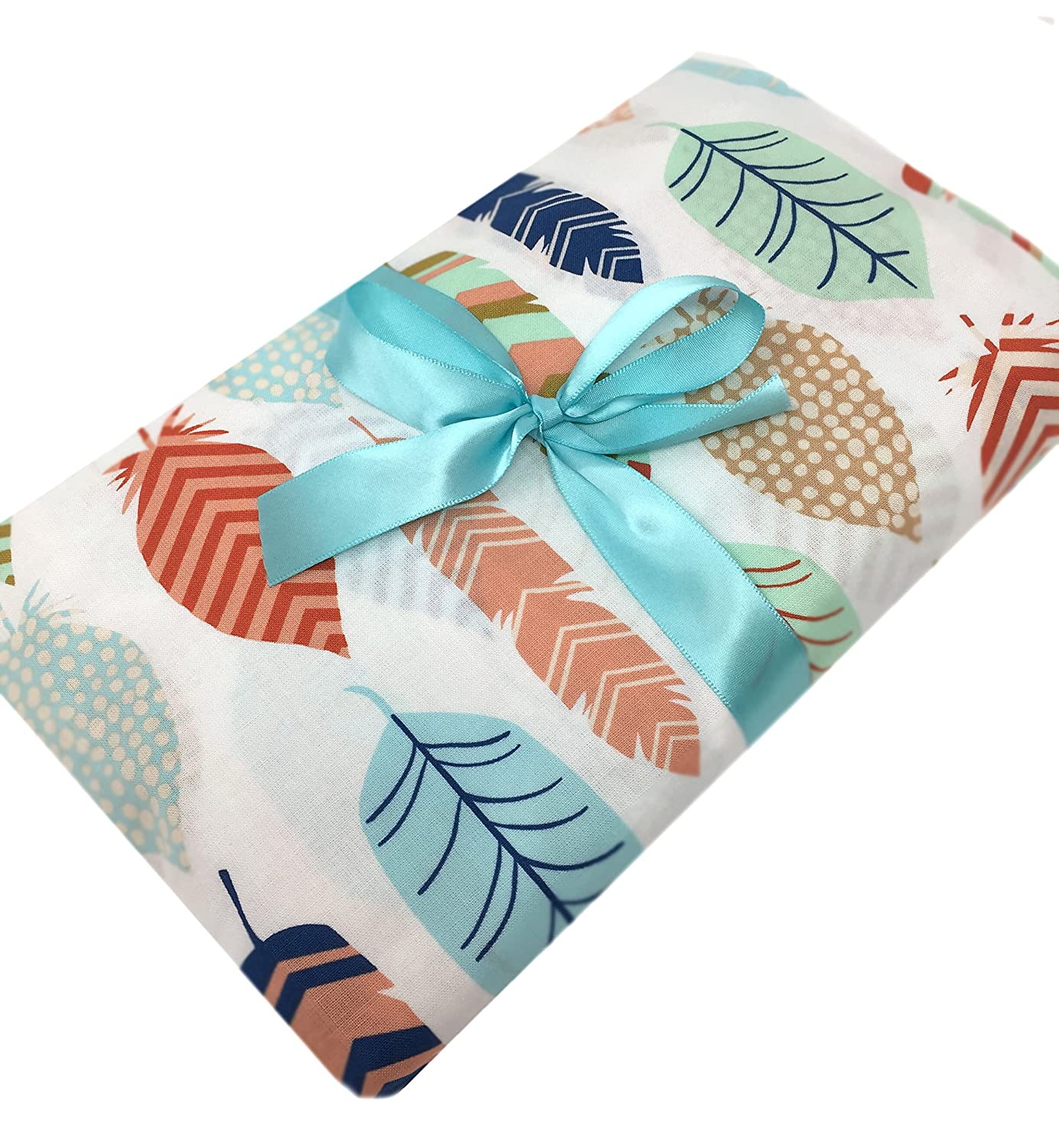 Feathers Fitted Crib Sheet Handmade in USA