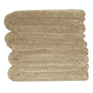 Polyte Premium Quick Dry Lint Free Microfiber Bath Towel, 57 x 30 in, Set of 4 (Beige)