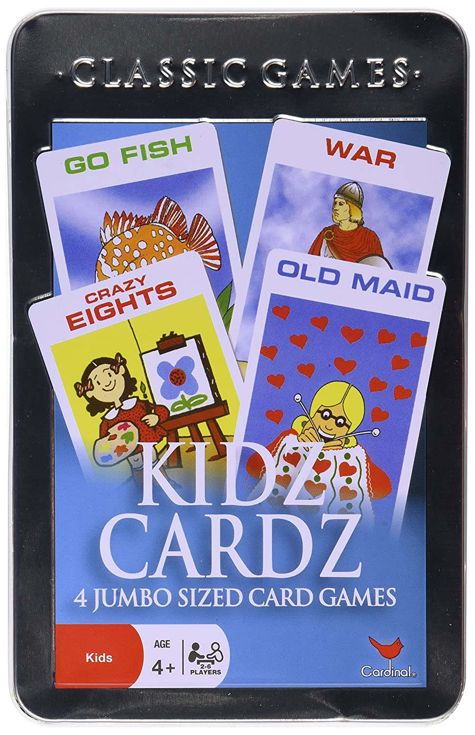 Re creation Group Plc Kids Collection Kidz Cardz In a Tin (Four Games)