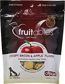 product image for Fruitables 953021 8-Pack Countables Dog Treats Crispy Bacon And Apple, 7-Ounce