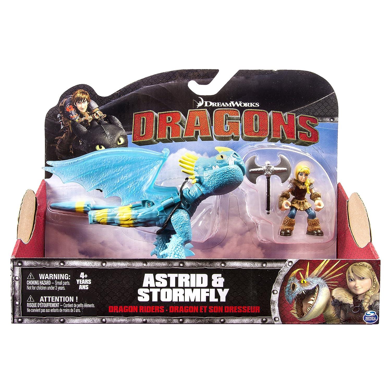 Spin Master Dragones - 6026884 - Animación Estatuilla - Dragón y su Entrenador - Y Astrid tormenta