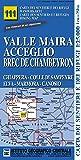 Carta n. 111 Valle Maira, Acceglio, monte Chambeyron 1:25.000. Carta dei sentieri e dei rifugi. Serie monti