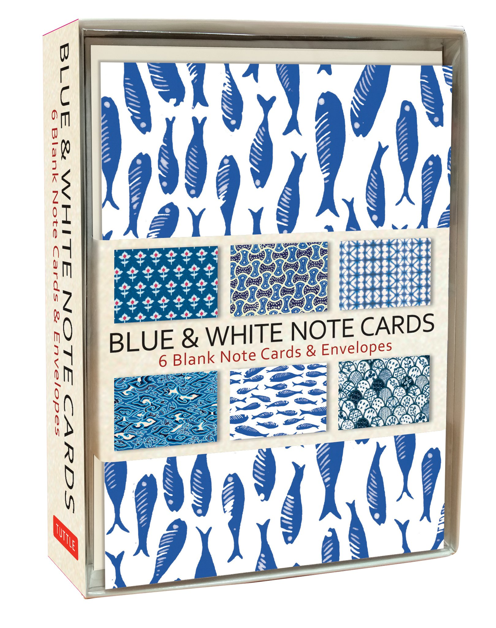 Read Online Blue & White Note Cards: 6 Blank Note Cards & Envelopes (4 x 6 inch cards in a box) pdf epub