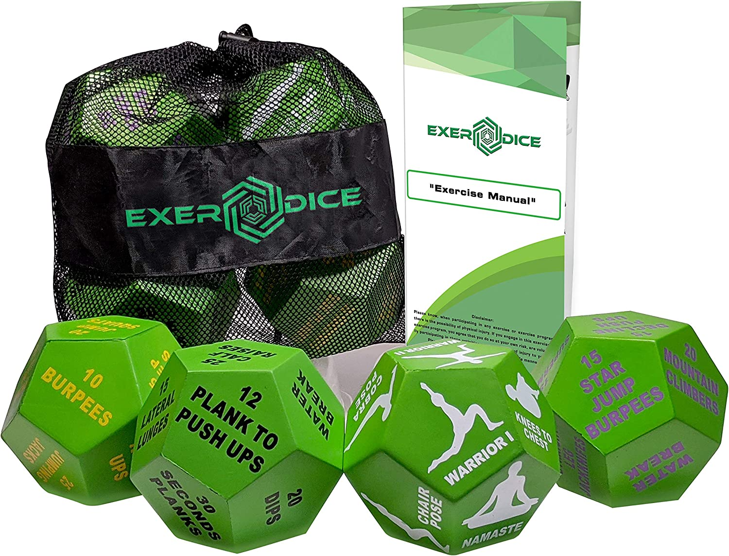 Amazon.com: 4 Pack Fitness Dice Bundle with Exercise Manual ...