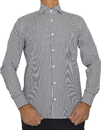E. MECCI M16 Camisa de Hombre Made in Italy 100% algodón ...