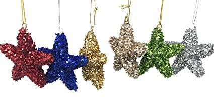 ak trading christmas star ornaments 3d shatterproof christmas decorations tree balls for party decoration christmas