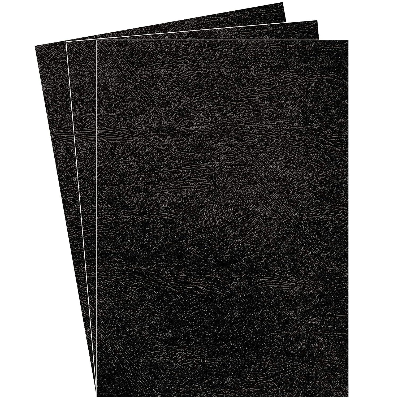 negro A4 Portadas para encuadernar de cart/ón Fellowes Delta Cuero