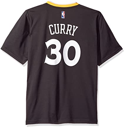 the latest 51ea1 dd9fc NBA Golden State Warriors Stephen Curry #30 Men's Replica Jersey, X-Large,  Black (3HW)