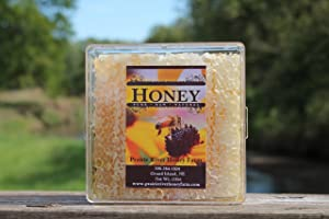 Raw Comb Honey Pure Natural Nebraska Honey (one) 1lb (16oz) Cut Comb