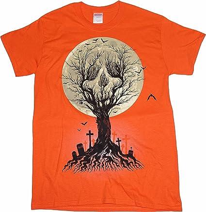 Grave Digger Horror T-Shirt Skulls Night Evil Death Bats Moon Soul Ghost D035