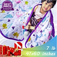 """Weighted Blanket for Kids and Adults with Dotted Minky Luxurious Cover 