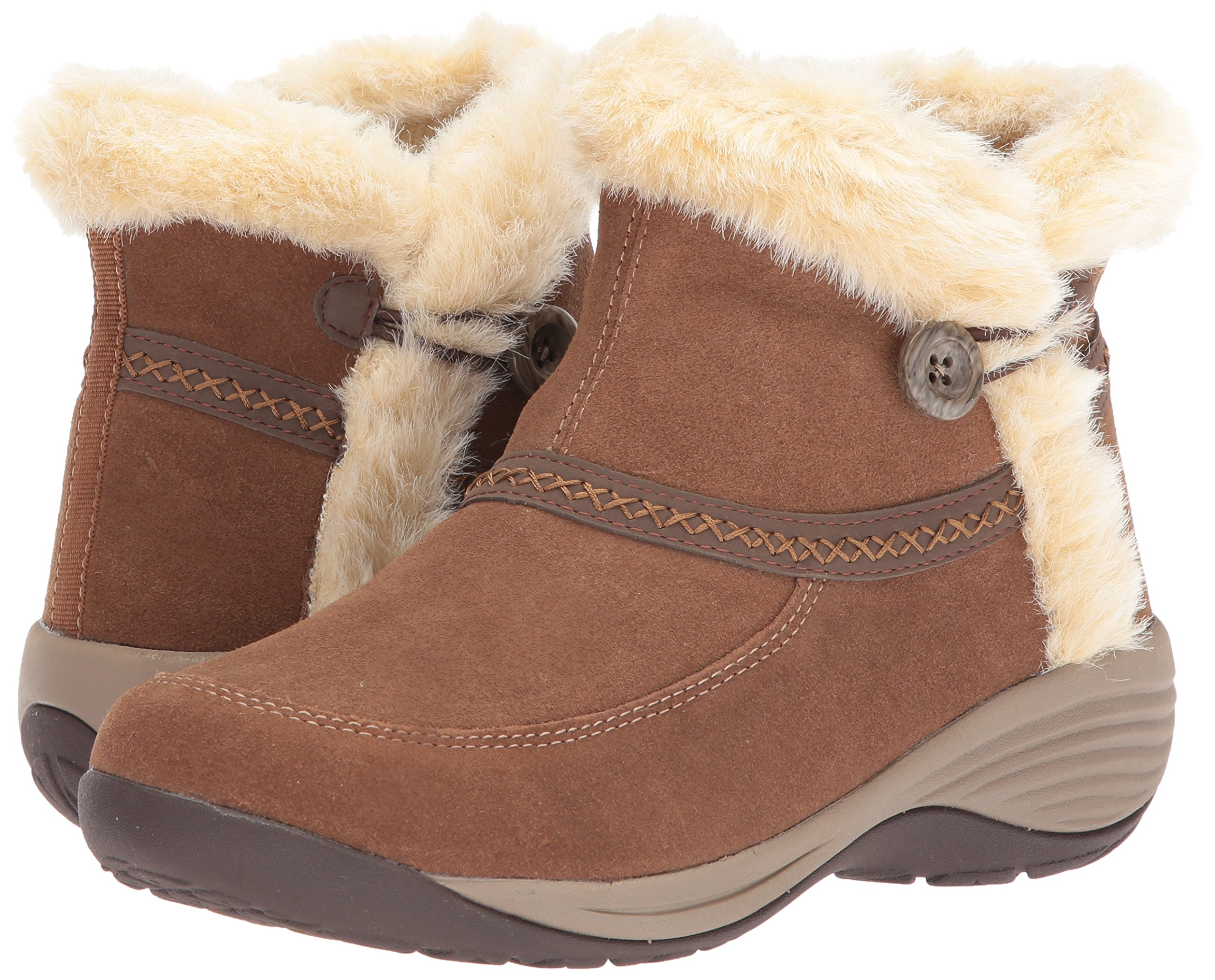 Easy Spirit Women's Icerink Ankle Bootie, Dark Natural Multi Suede, 6 W US by Easy Spirit (Image #6)