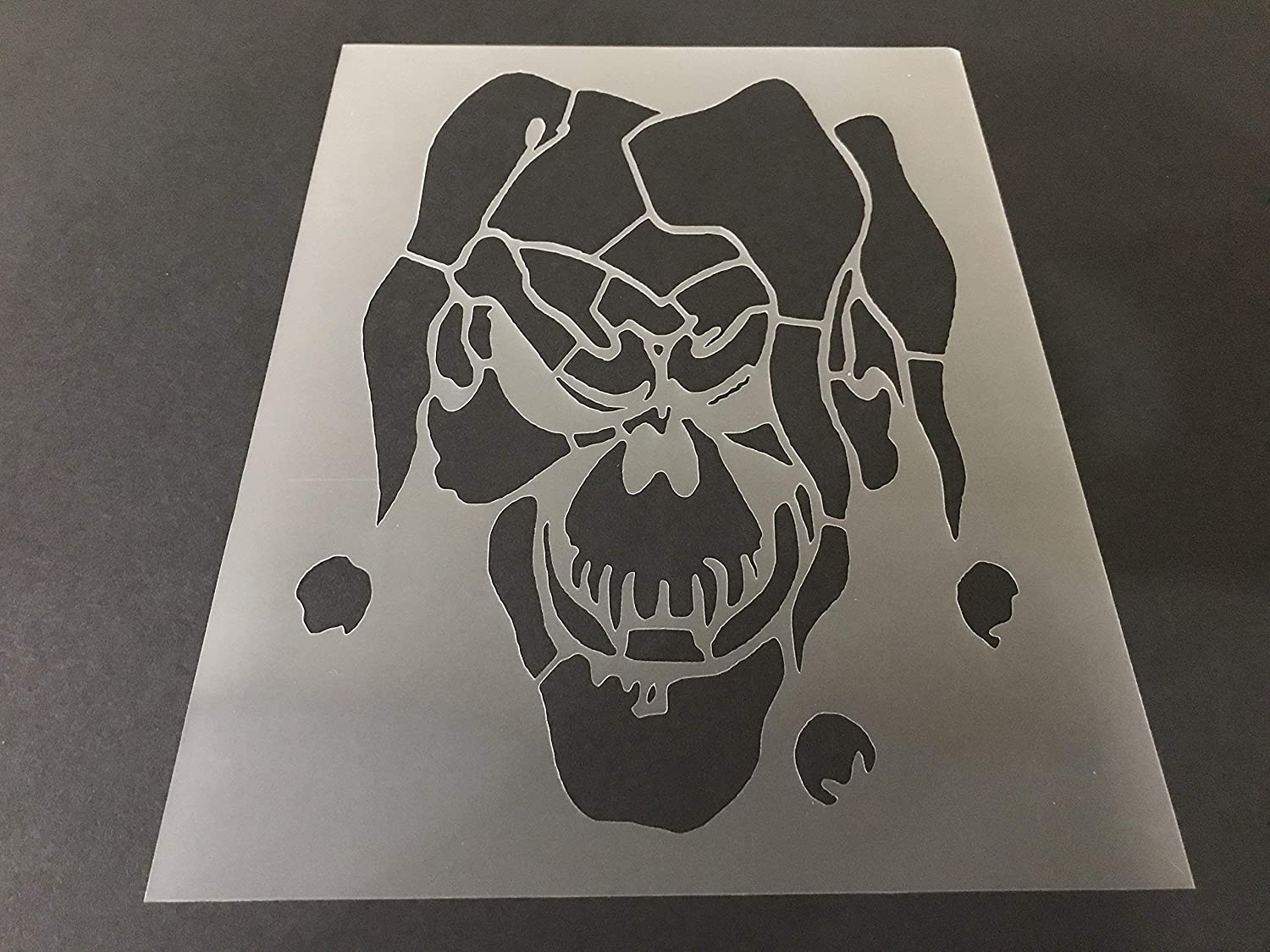 Clown Stencil #2 Reusable 10 mil Thick 8in x 10.5in sheet