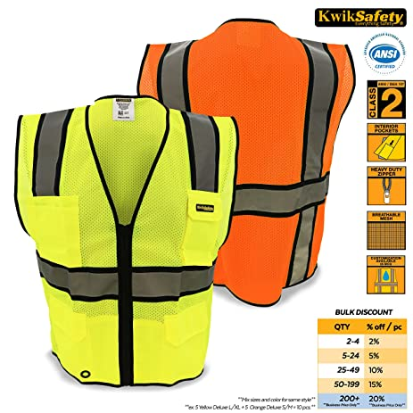 KwikSafety Yellow Class 2 Ultra Cool Safety Vest