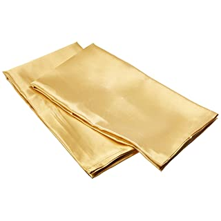Morning Glamour 2-Pack Signature Box Pillowcases, Gold