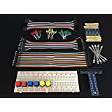 Sintron] New 40-Pin T-Cobbler GPIO Extension Board Starter Kit with RGB LED Switch Push Button 830 Points Breadboard for Raspberry Pi 1 Models A+ and B+, Pi 2 Model B, Pi 3 Model B and Pi Zero