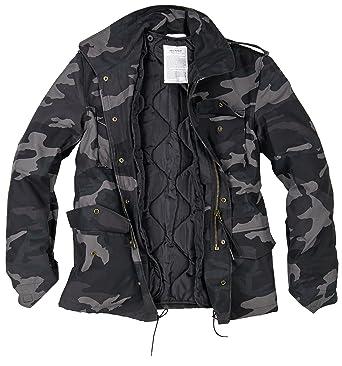 61062102ff957 Amazon.com: Surplus Men's US Field Jacket M65 Black Camo: Clothing