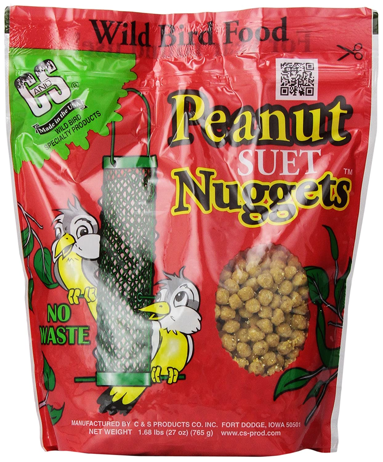C & S Products Peanut Nuggets, Pack of 6 Bird Products/Food CS06105