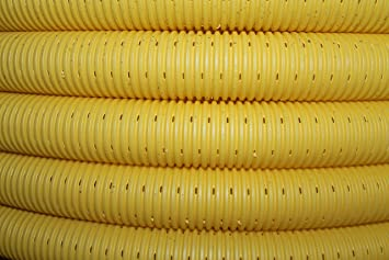 10m Drainagerohr Drainage Gelb Dn 50 Gelocht Entwasserung Amazon De