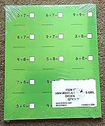 HMH Make-a-Ten Card Flash Cards- Grade 1- Green Subtraction