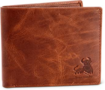 Bull Armour RFID Blocking Bifold Wallet For Men Soft Genuine Vintage Leather