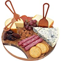 Magnetic Cheeseboard with Serving Utensils by Choosy Chef – Perfect for Hot Cocoa Charcuterie - Also Includes a Guide to…