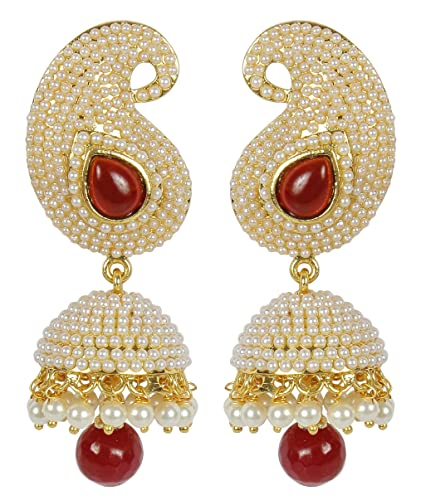 2bfaf4a951728e MUCH-MORE Indian Fantastic Style Gold Plated Party Wear Polki/Jhumka  Earring Jewelry for